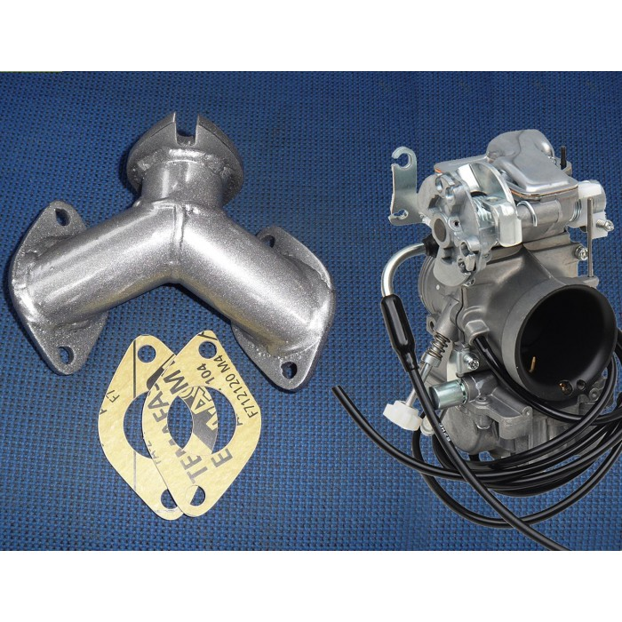 Single Carb Manifold Yamaha Virago XV700-1100 with TM-40 CARBURETOR